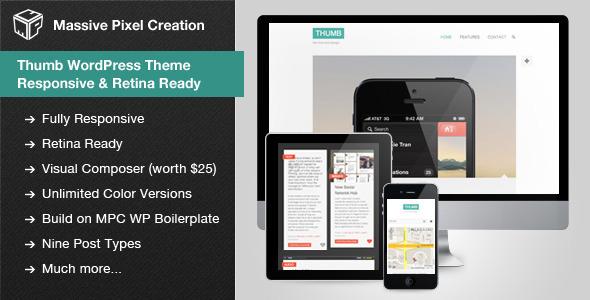 ThemeForest Thumb WordPress Theme Responsive & Retina Ready 4165862