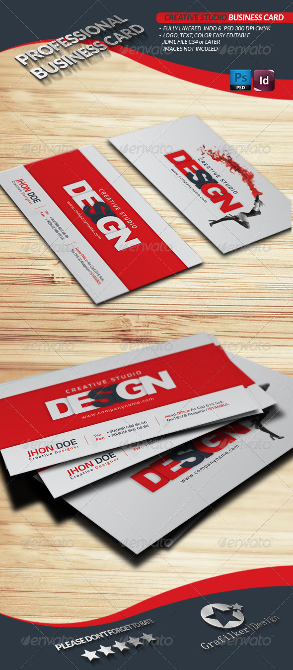 GraphicRiver Creative Studio Business Card 4166185