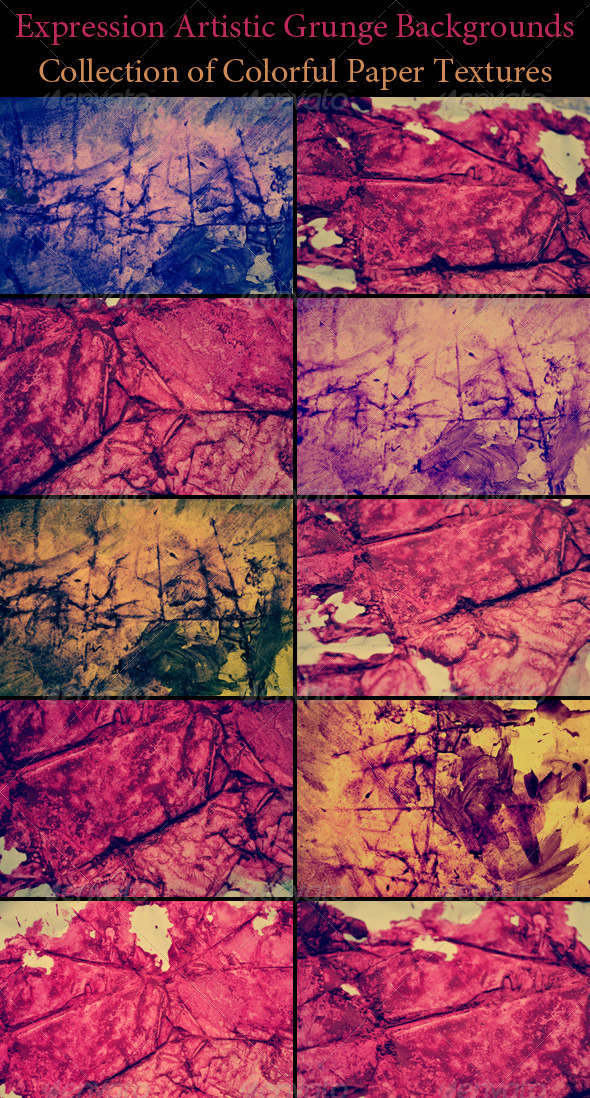 GraphicRiver Expression Artistic Grunge Backgrounds 4166374