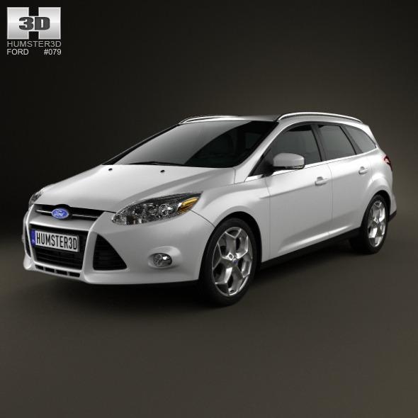 3DOcean Ford Focus Wagon 2012 4166476