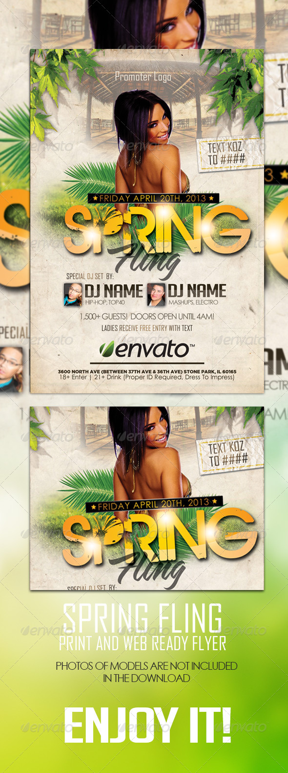 GraphicRiver Spring Flyer Template 4166638