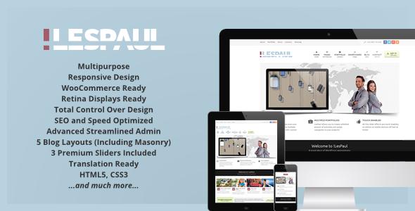 Temas Corporativos Premium para WordPress: LesPaul