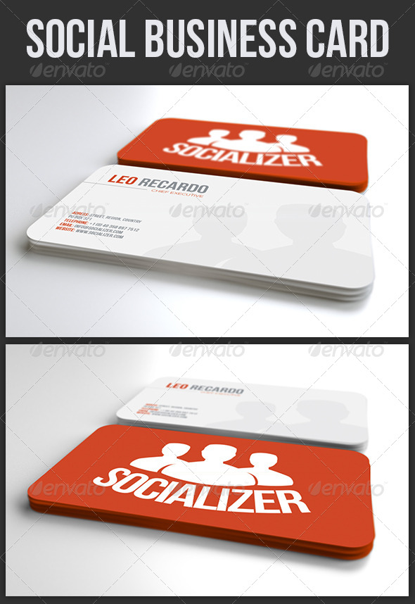 GraphicRiver Social Business Card 4037536