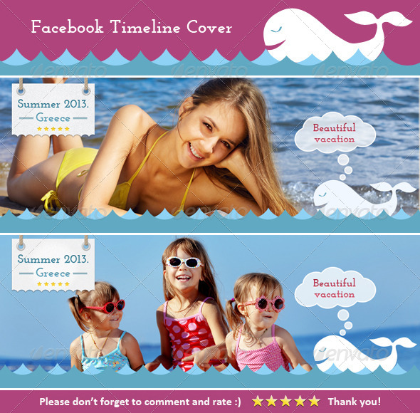 GraphicRiver FB Cover Vacation 4051942