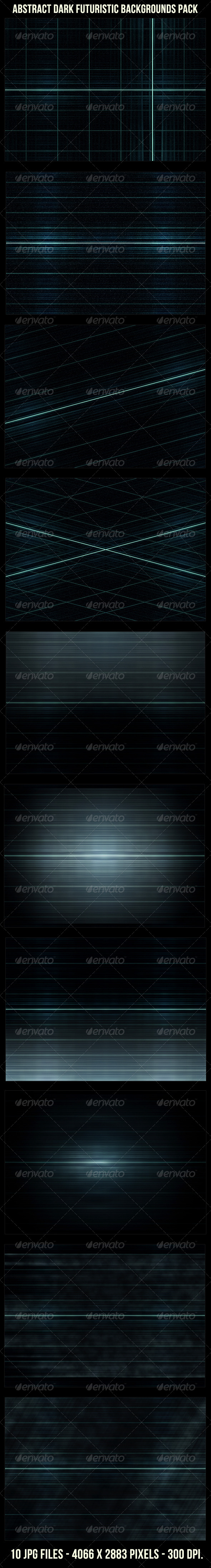 Abstract Futuristic Dark Backgrounds Pack - Tech / Futuristic Backgrounds