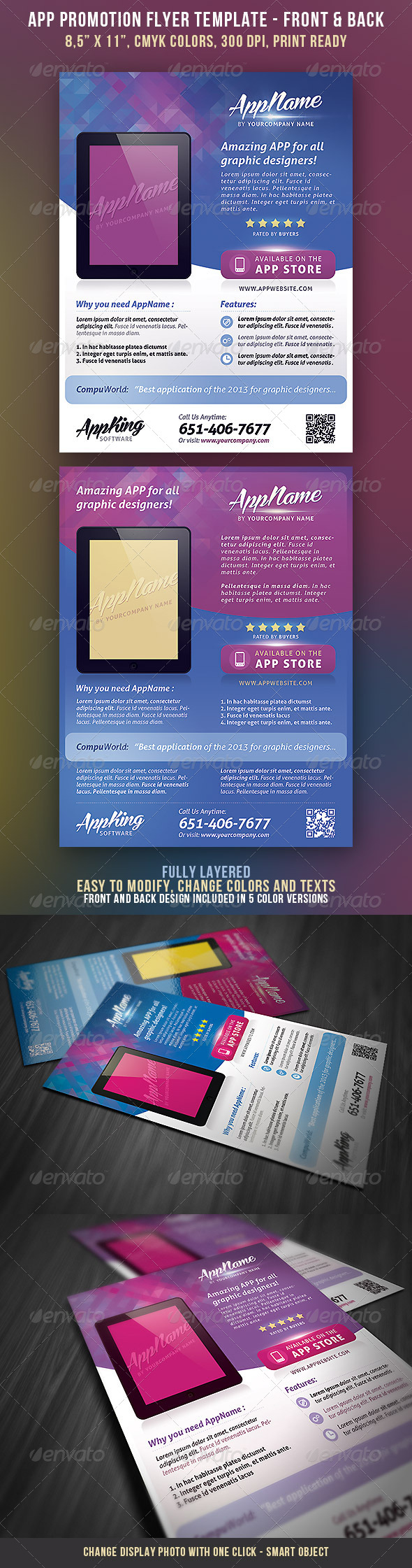 GraphicRiver App Promotion Flyer 4168223