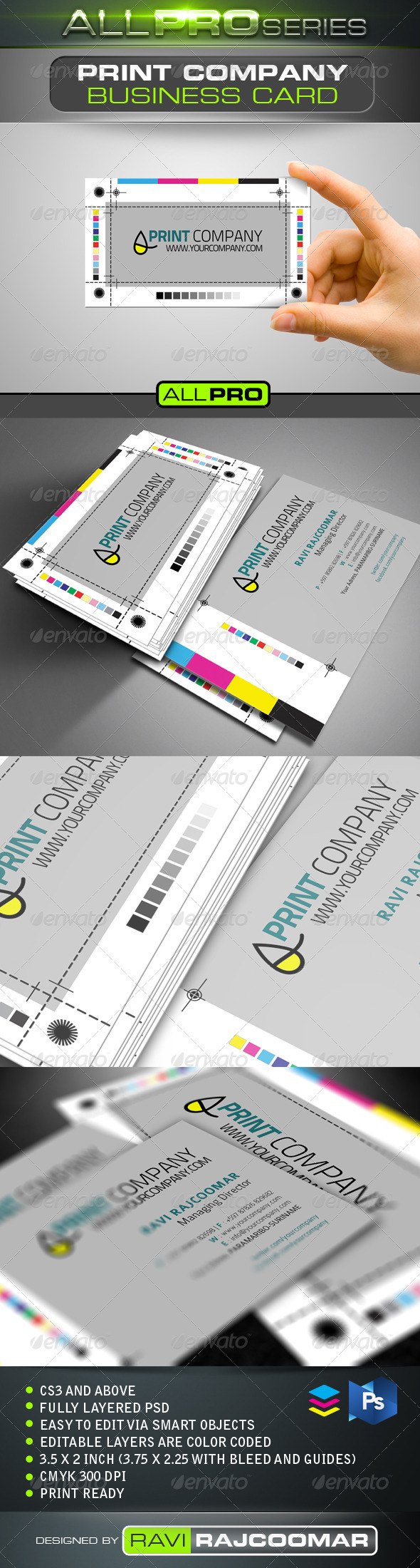 GraphicRiver Print Company Business Card 4168919