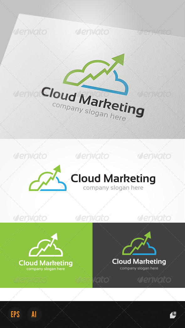 GraphicRiver Cloud Marketing Logo 4084987