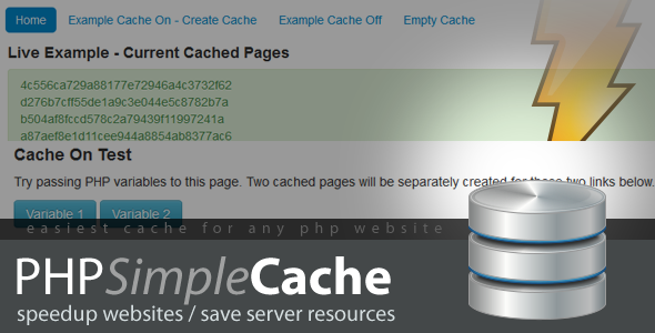 CodeCanyon PHP Simple Cache 4169137