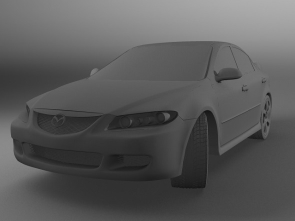 Realistic Mazda 6 Model - 3DOcean Item for Sale