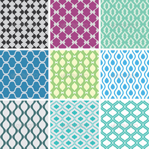 GraphicRiver Abstract Vector Patterns 4169231