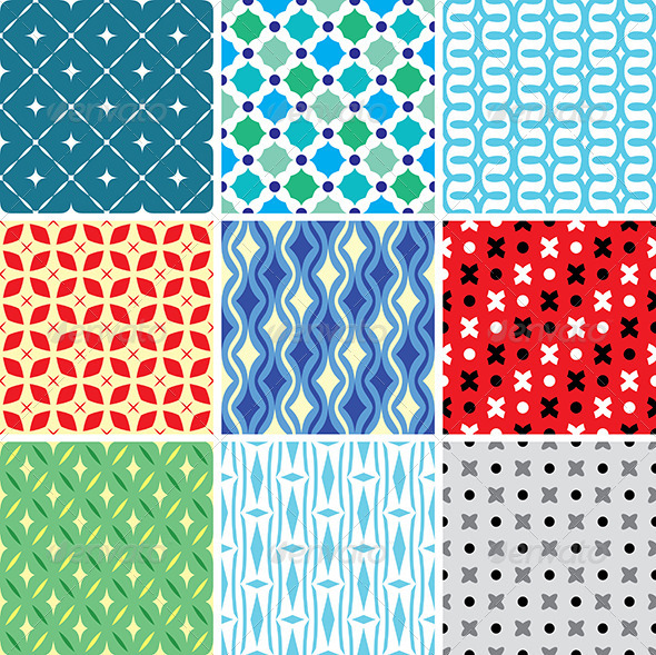 GraphicRiver Abstract Vector Patterns 4169233