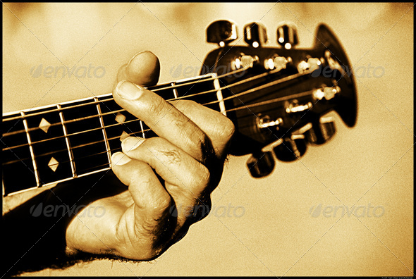 Playing Guitar - Stock Photo - Images