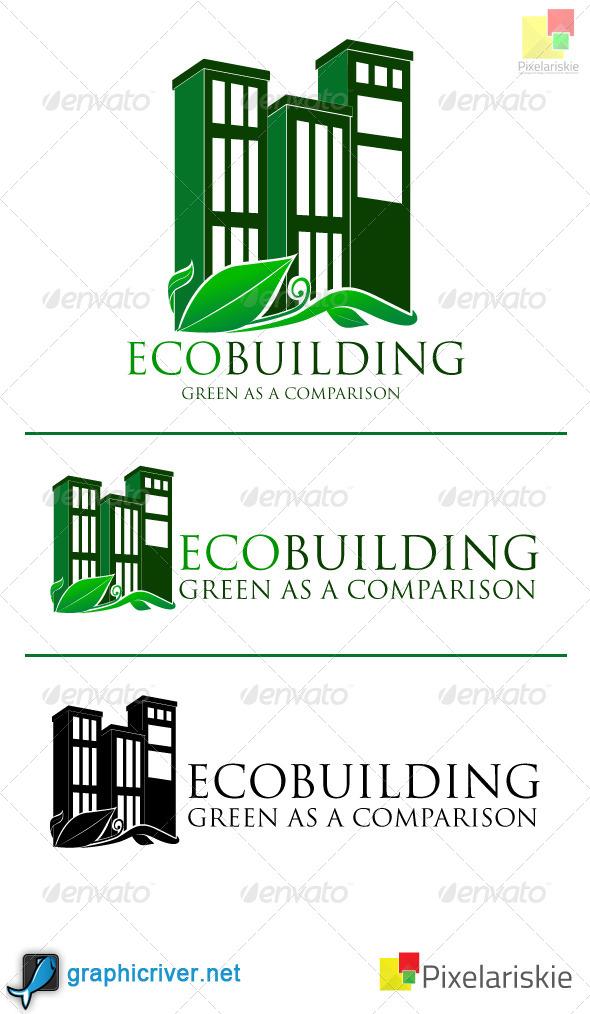 GraphicRiver Eco Building logo 4062369