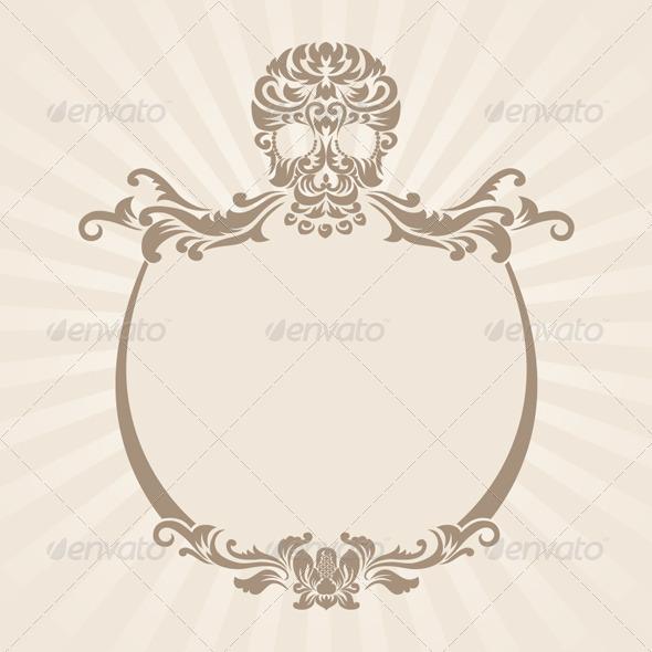 GraphicRiver Skull Ornament Frame 4169595