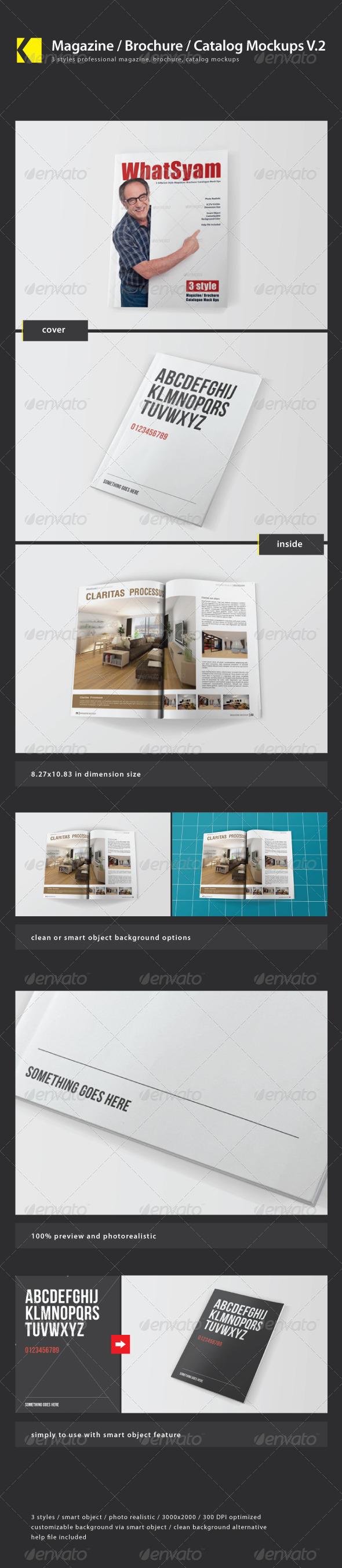 GraphicRiver Magazine Brochure Catalog Mockups V.2 4169608