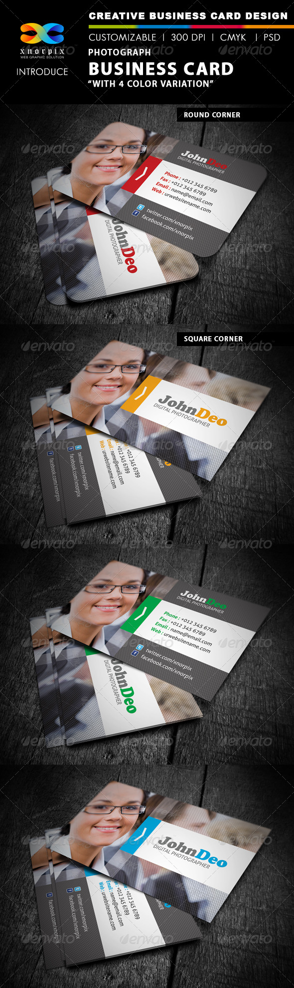 GraphicRiver Photographer Business Card 4169918