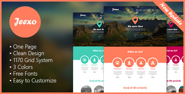 Jeexo - Single Page PSD Template