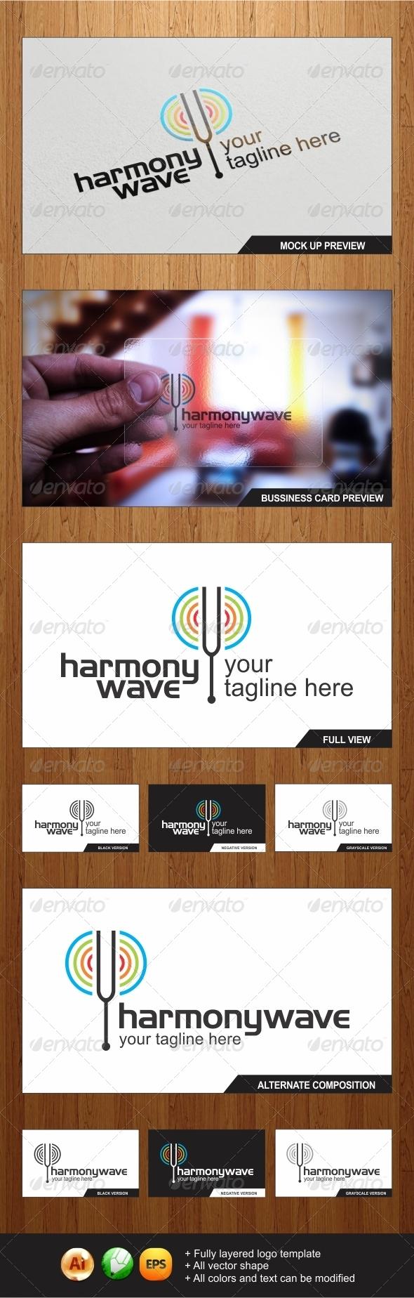 GraphicRiver Harmonywave Logo 4170115