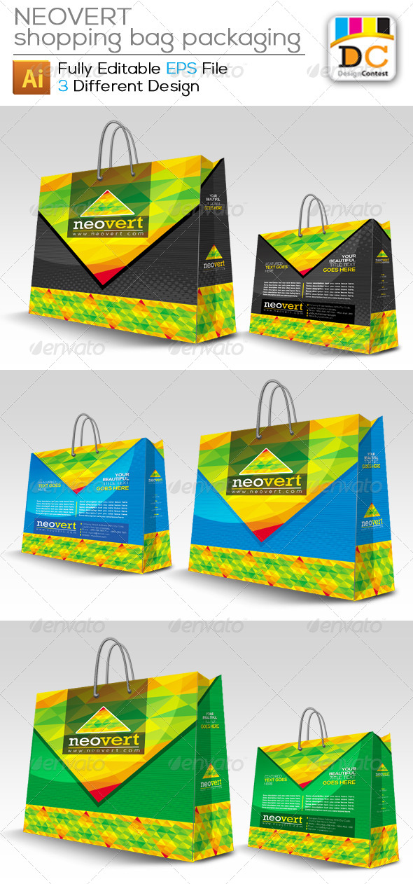GraphicRiver NeoVert Shopping Bag Packaging 4170243