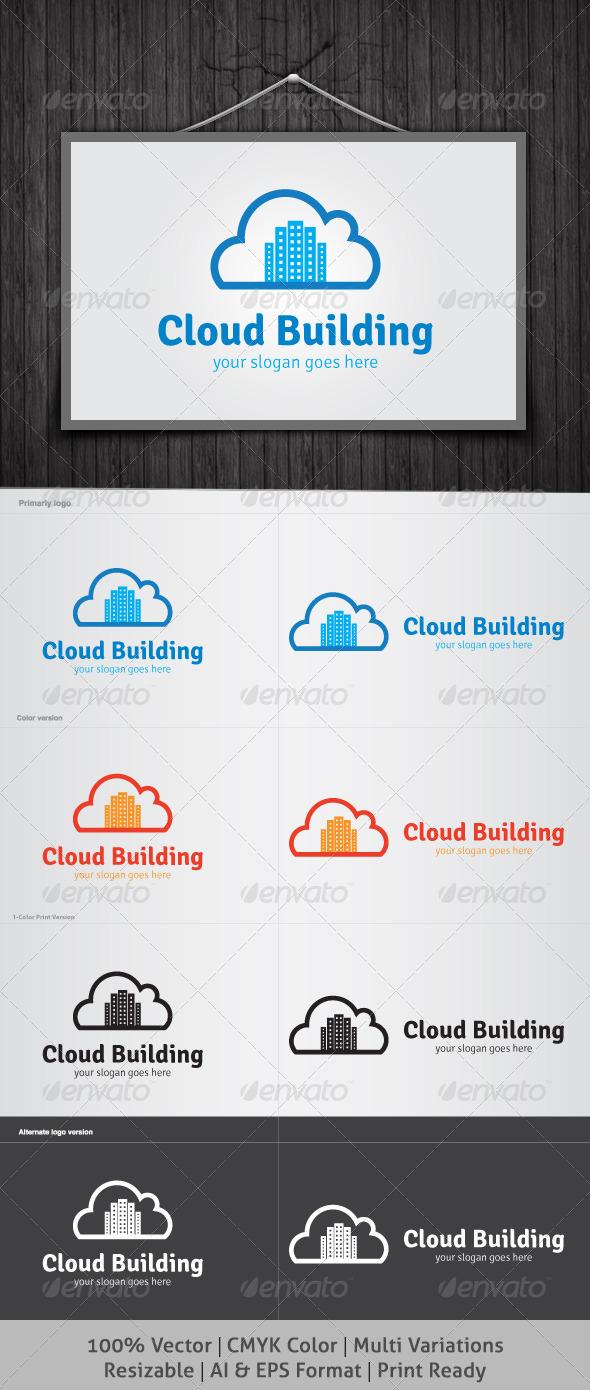 GraphicRiver Cloud Building Logo 4062136
