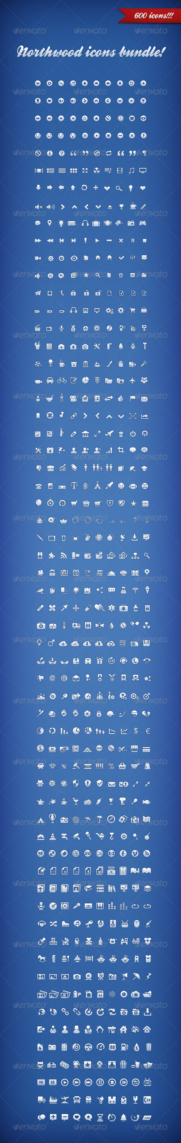 GraphicRiver Northwood Icons Bundle 4170471