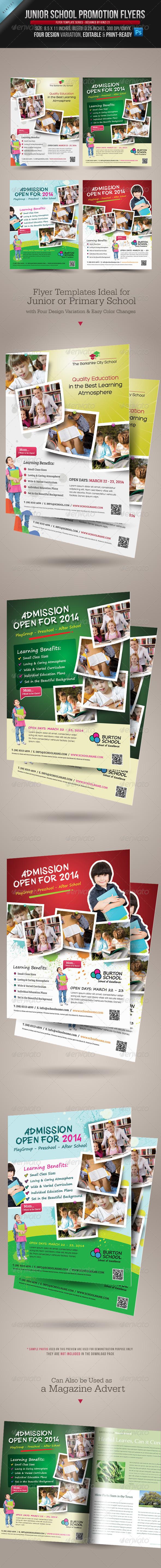 GraphicRiver Junior School Promotion Flyers 4170610