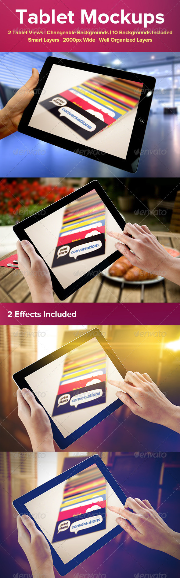 GraphicRiver Tablet Mockups 4170721