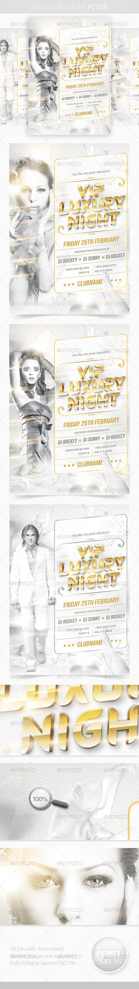 GraphicRiver VIP Luxury Night Flyer 4038533