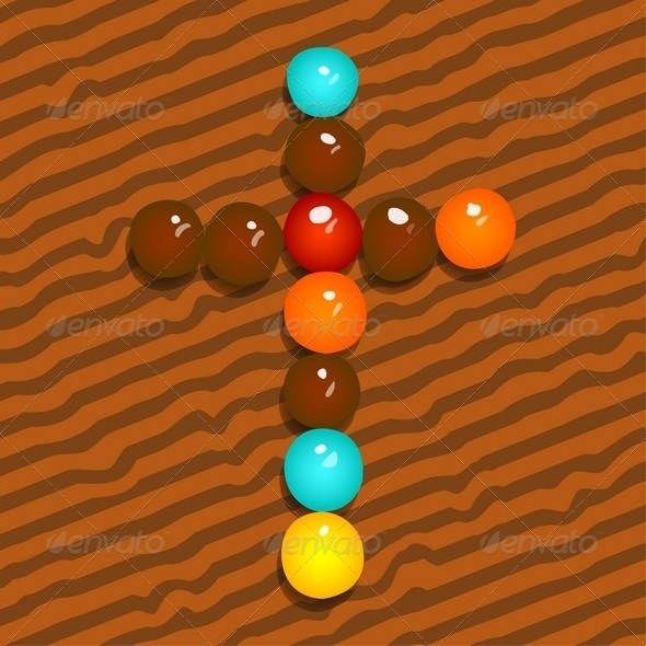 GraphicRiver Colored Candy Cross 4171155