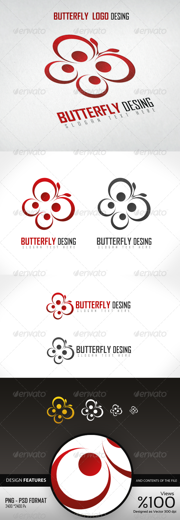 GraphicRiver Butterfly Logo Design 4093191