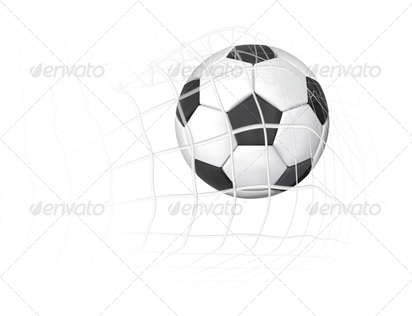GraphicRiver Soccer Ball in Net 4171616