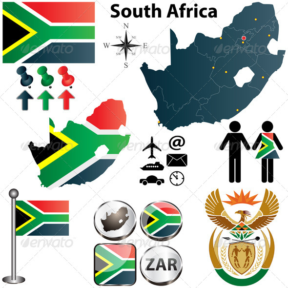 GraphicRiver South Africa Map with Regions 4172312