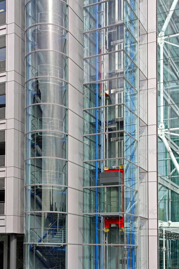 Glass elevator - Stock Photo - Images