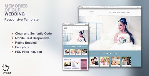 Memories — HTML5 CSS3 Responsive Template
