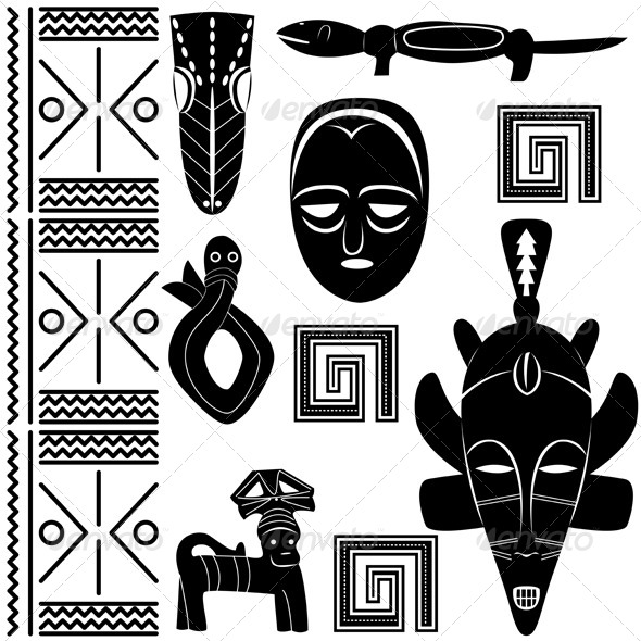 GraphicRiver Ancient African Pattern 4173458