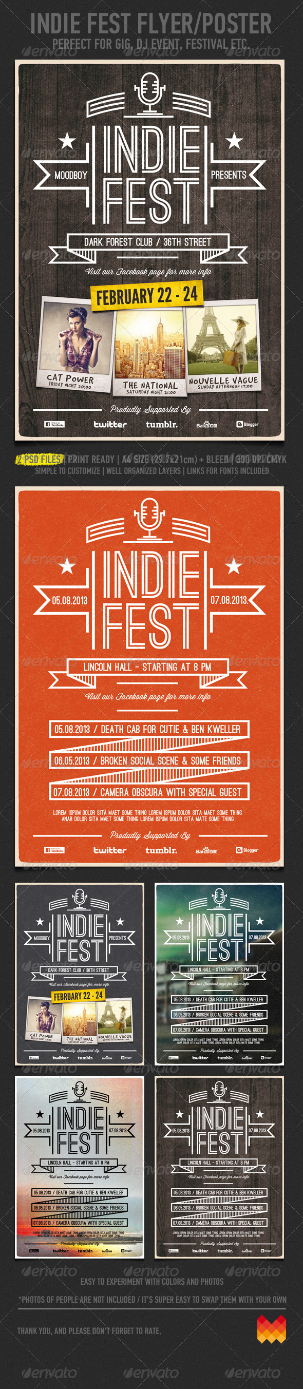 GraphicRiver Indie Fest V.03 Flyer Poster 4173461