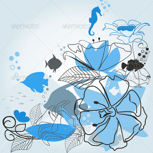 GraphicRiver Fishes a Flower 4174191
