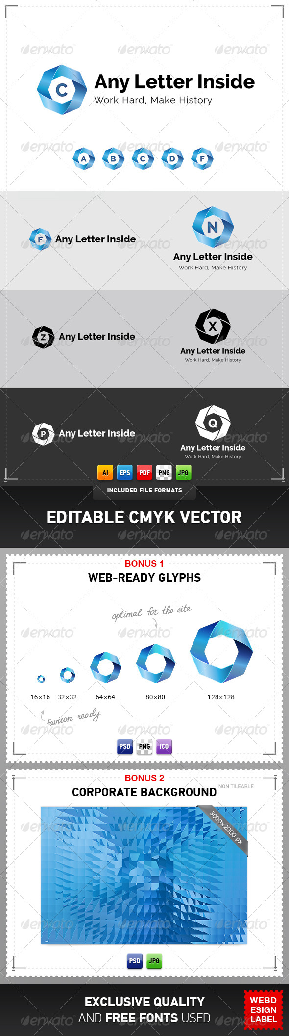 GraphicRiver Any Letter Inside Logo 4079172