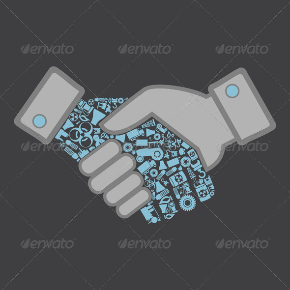 GraphicRiver Industry Hand Shake 4174227