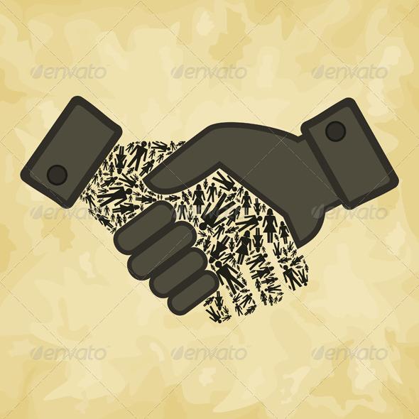 GraphicRiver Person Hand Shake 4174264