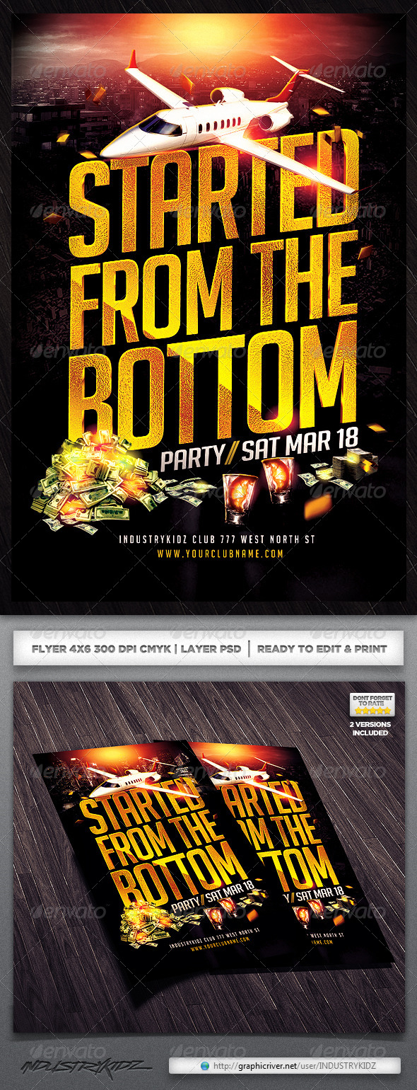 GraphicRiver Started From The Bottom Flyer 4174313