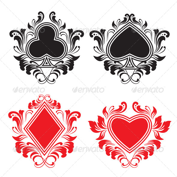 GraphicRiver Playing Card Ornament Set 4174360