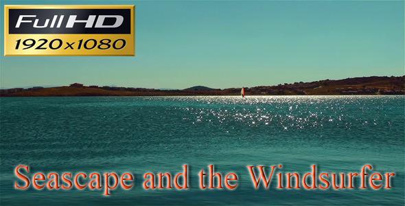 Seascape and Windsurfer Silhouette