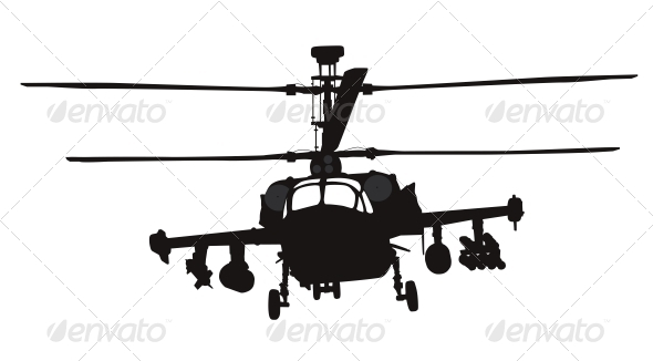 GraphicRiver Helicopter Silhouette 4174898