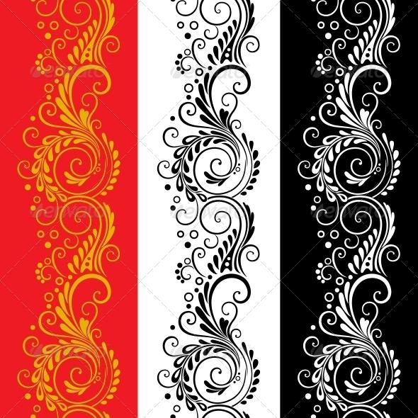 GraphicRiver Three decorative flower seamless patterns 4174936
