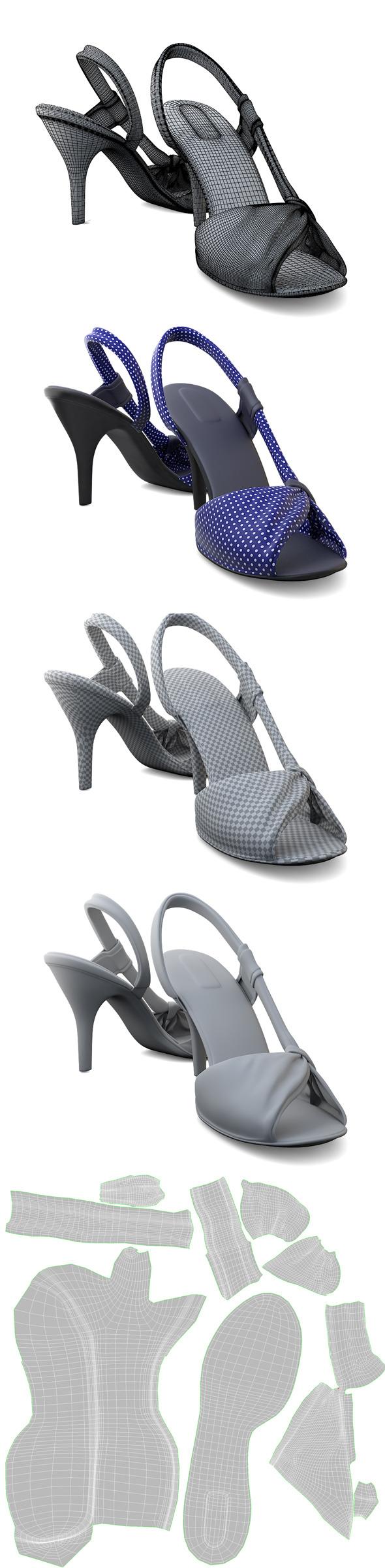 3DOcean Ladies Sandals 4175119