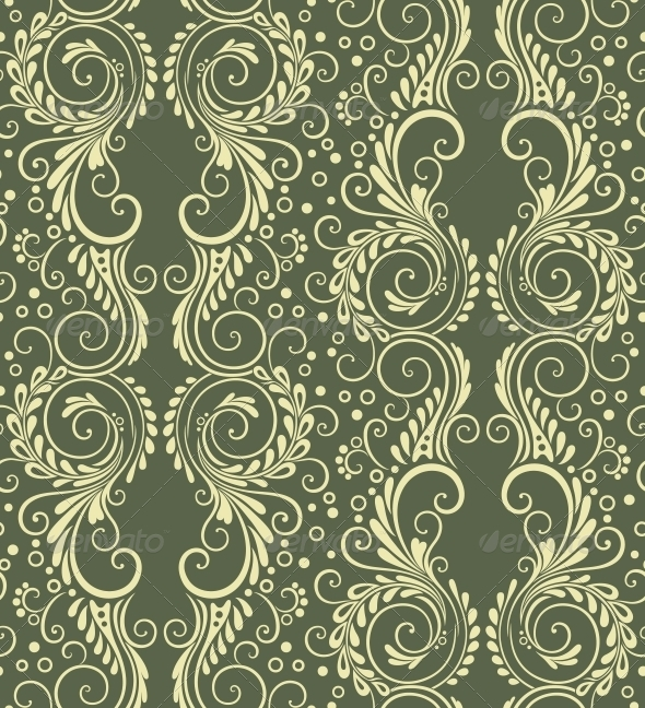 Abstract Decorative Seamless Floral Background