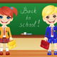 Vector Schoolchildren near Blackboard - GraphicRiver Item for Sale