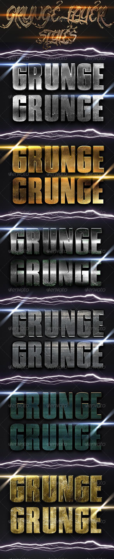GraphicRiver Grunge Layer Styles 4057997